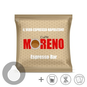 150 CIALDE CAFFE' MORENO MISCELA ESPRESSO BAR ESE 44MM + KIT ACCESSORI