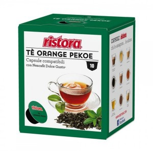 10 CAPSULE RISTORA THE ORANGE PEKOE COMPATIBILITA' DOLCE GUSTO